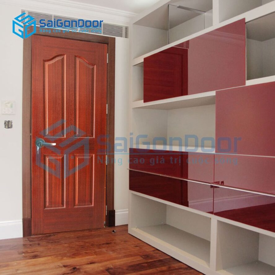 Cửa gỗ phòng ngủ HDF.P14A-SAPELE
