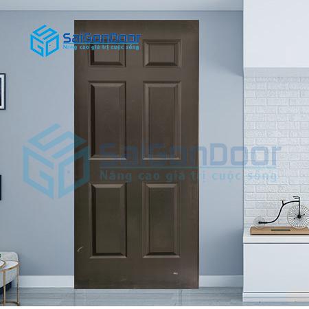 Cửa phòng khách cao cấp màu đen HDF.P16B-C14